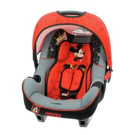 Disney Mickey Mouse Group 0+ Beone Baby Car Seat Black & Red