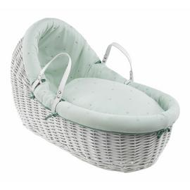 Clair de Lune Lullaby Stars Willow Bassinet - White