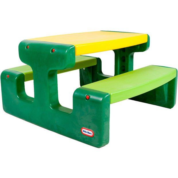 Buy Little Tikes Large Picnic Table Evergreen At Argos Co
