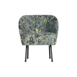 BePureHome Vogue Velvet Armchair - Grey Floral