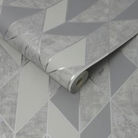 Superfresco Milan Silver Geometric Wallpaper