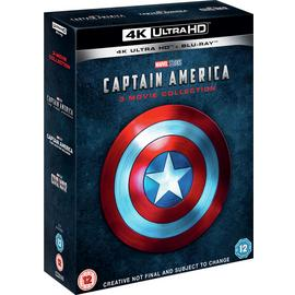 Captain America Trilogy 4K UHD Blu-Ray Box Set