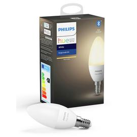 Philips Hue E14 White Smart Candle Bulb with Bluetooth