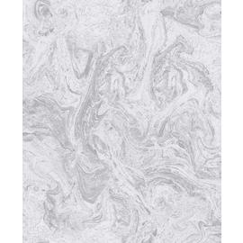 Sublime Marbelicious Grey Silver Wallpaper