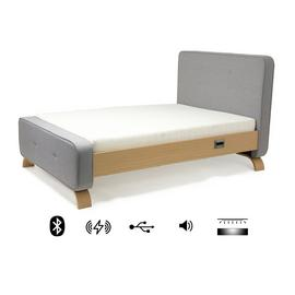 KOBLE Smart Sove Kingsize Bed Frame - Grey