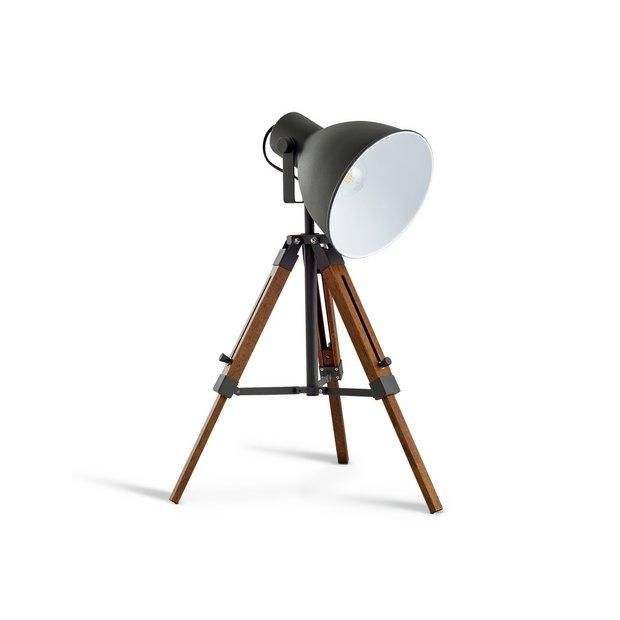Buy Argos Home Loft Living Tripod Table Lamp Grey   Table lamps   Argos