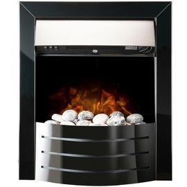 Adam Comet Electric Inset Fire - Black