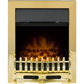 Adam Blenheim Electric Inset Fire - Brass