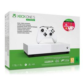 Xbox One S 1TB All Digital Console 3 Game & FIFA 20 Bundle