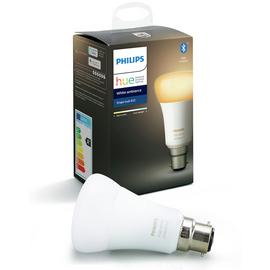 Philips Hue B22 White Ambiance Smart Bulb with Bluetooth