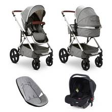 Baby Elegance Cupla Duo Travel System - Grey