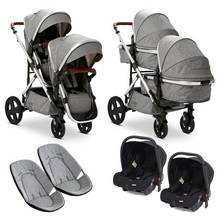 Baby Elegance Culpa Twin Travel System - Grey