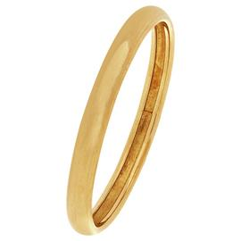 Revere 9ct Yellow Gold Rolled Edge Wedding Ring - 2mm