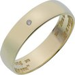 more details on 9ct Gold Diamond Accent Commitment Message Ring - 6mm