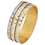more details on 9ct Gold Diamond Cut 3 Row Sparkle Ring.