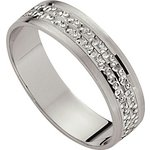 more details on 9ct White Gold Diamond Cut Wedding Ring - 5mm.