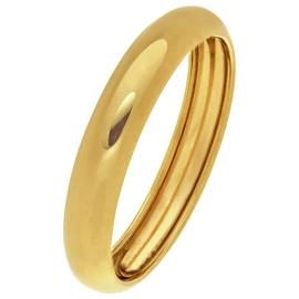 Revere 9ct Yellow Gold Rolled Edge Wedding Ring - 4mm
