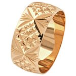 more details on 9ct Gold Diamond Cut Wedding Ring - 8mm.