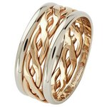 more details on 9ct 2 Coloured Gold Celtic Style Wedding Ring.