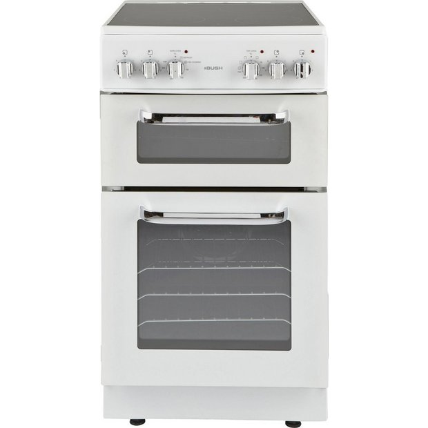buy bush bfedc50w double electric cooker white. Black Bedroom Furniture Sets. Home Design Ideas