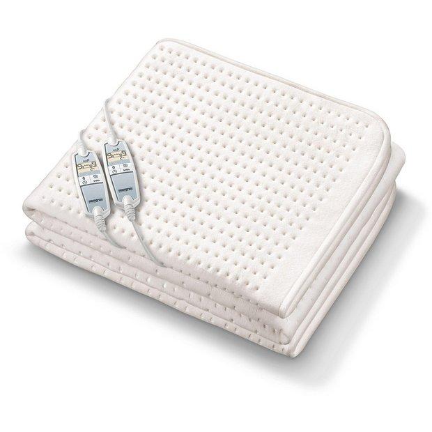 buy monogram premium heated dual control mattress cover. Black Bedroom Furniture Sets. Home Design Ideas