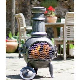 La Hacienda Medium Steel Chimenea with Cooking Grill