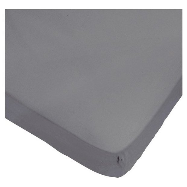 buy heart of house 100 cotton dove grey fitted sheet. Black Bedroom Furniture Sets. Home Design Ideas