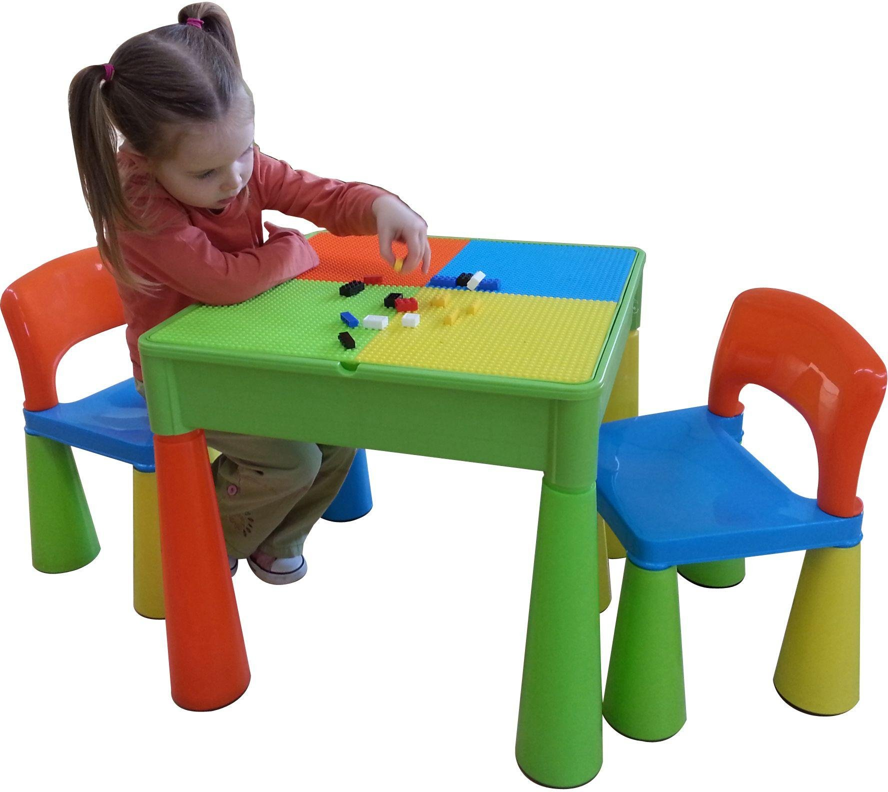table and chairs for toddlers. 5 in 1 table and chairs writing/lego top/sand/water/storage. for toddlers a