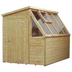 Mercia Wooden 8 x 6ft Shiplap Potting Shed Best Price, Cheapest Prices