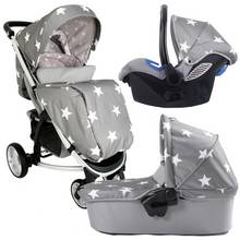 My Babiie Billie Faiers MB200 Travel System - Grey Star