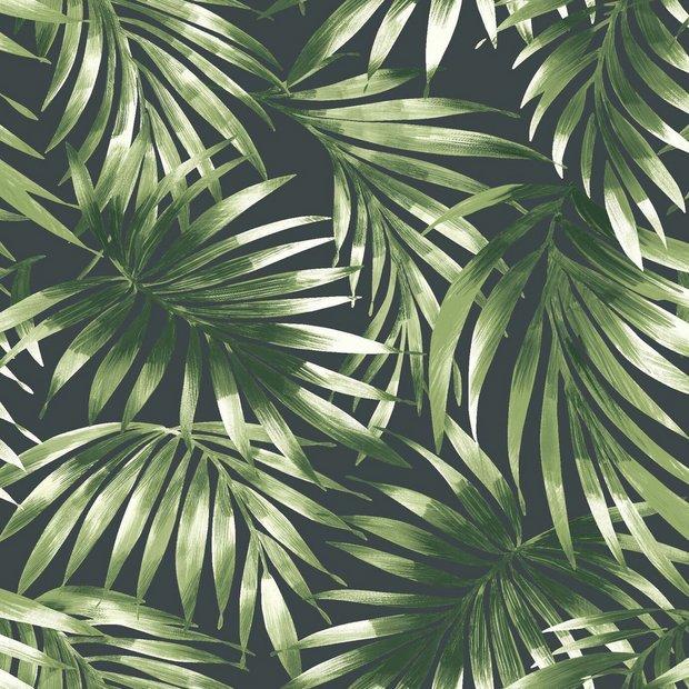 Buy Superfresco Easy Elegant Leaves Green Wallpaper Wallpaper Argos