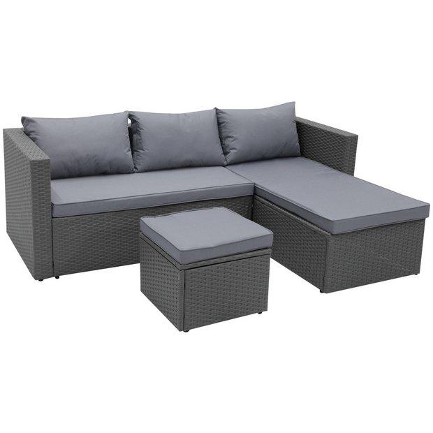 Buy Argos Home Mini Corner Sofa Set With Storage Patio Sets Argos