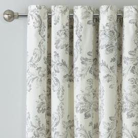 Argos Home Damask Lined Eyelet Curtains