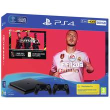 Sony PS4 500GB Console, FIFA 20 & 2 Controller Bundle