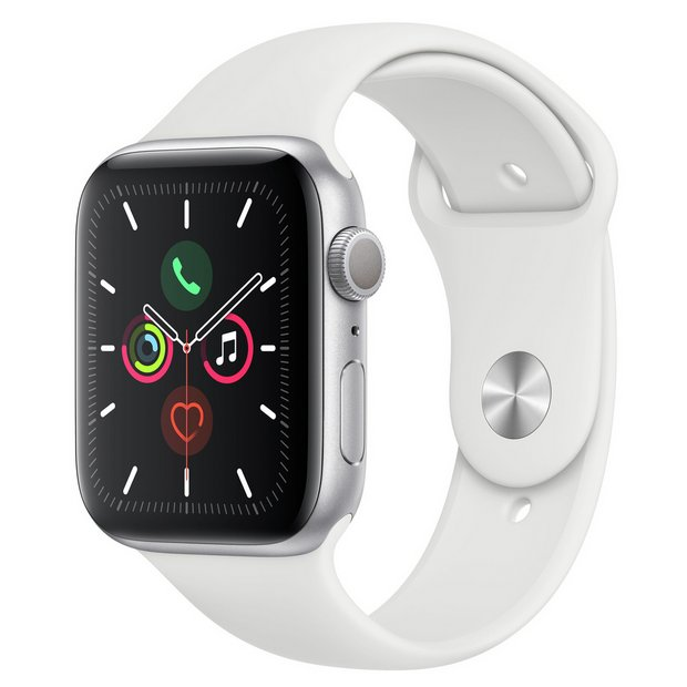Apple Watch S5 GPS 44mm Silver Alu/White Band