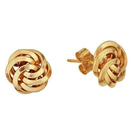 Revere 9ct Yellow Gold Knot Stud Earrings