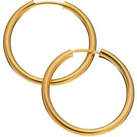 Revere 9ct Yellow Gold Hoop Earrings