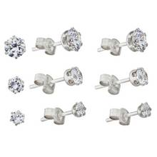 Revere Sterling Silver Stud Earrings Set of 3 Pairs
