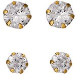 more details on 9ct Gold Cubic Zirconia Stud Earrings - Set of 2.