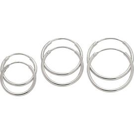 Revere Sterling Silver Set of 3 Hoop Earrings