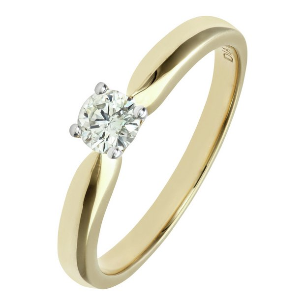 Buy Everlasting Love 9ct Gold Diamond Solitaire Ring