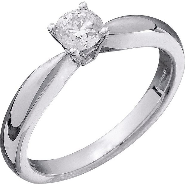 Buy Everlasting Love 9ct W Gold 0.33ct Diamond Solitaire