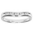 more details on Everlasting Love 9ct W Gold Shaped Diamond Wedding Ring - M.