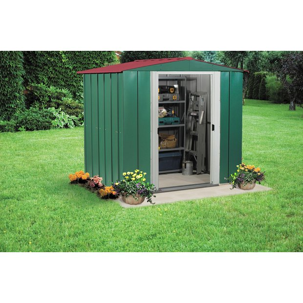 ... more details on Arrow Apex Metal Garden Shed - 6 x 5ft.