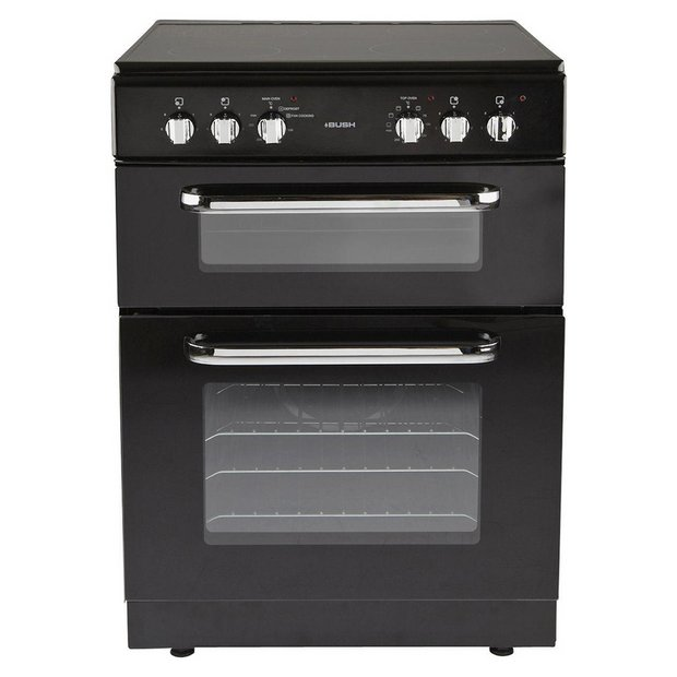 buy bush bfedc60b double electric cooker black at argos. Black Bedroom Furniture Sets. Home Design Ideas