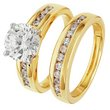 more details on 18ct Gold Plated Silver 2.00ct Look Cubic Zirconia Ring Set.