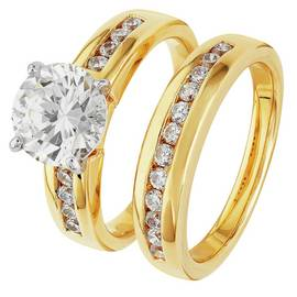 83cef42b2da80 Results for 18ct gold plated sterling silver 1.00ct look twist ring