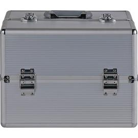 Pretty Pink Large Silver Aluminium Vanity Case