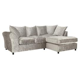 Argos Home Megan Right Corner Fabric Sofa - Silver