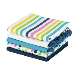 Argos Home Brights Pack of 5 Tea Towels